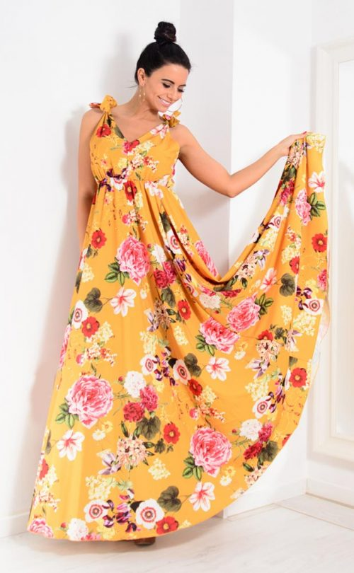 YellowFloralDress5